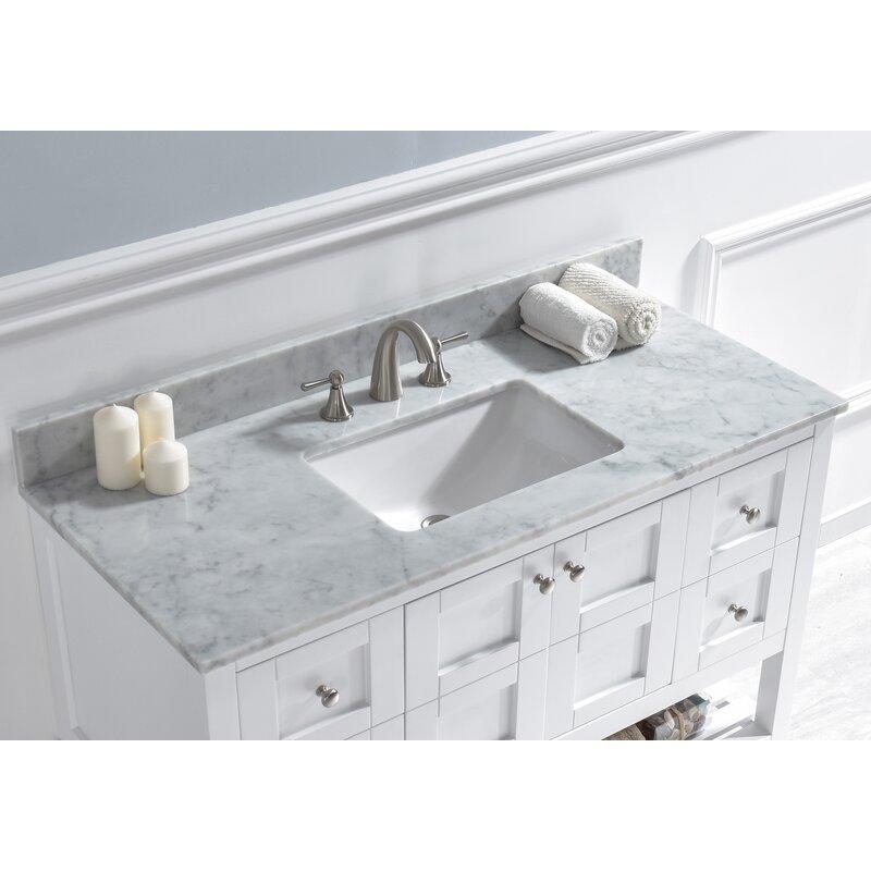 Woodbridge 48 Single Bathroom Vanity Top In Carra White With Sink Reviews Wayfair