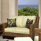 Boca Rattan Biscayne Leather Loveseat