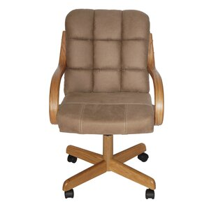 Huntingburg Mid Back Dining Caster Chair With Arms