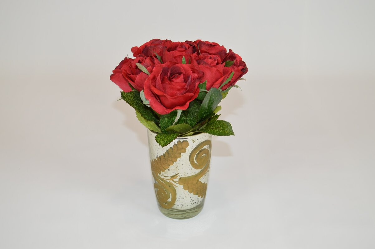 The french bee red roses in gold mercury vase reviews wayfair red roses in gold mercury vase reviewsmspy