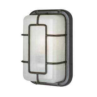 Wrought Studio Hinshaw 1-Light Outdoor Bulkhead Light