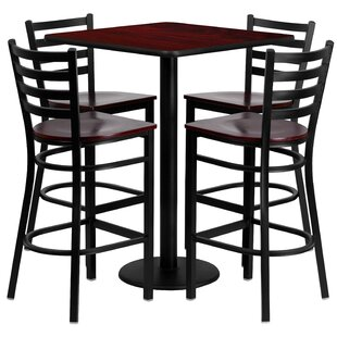Siddharth 5 Piece Pub Table Set by Red Barrel Studio Best #1