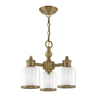 Lisle Mini 3-Light Shaded Chandelier by Red Barrel Studio