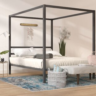 Save to Idea Board & Mirrored Canopy Bed | Wayfair