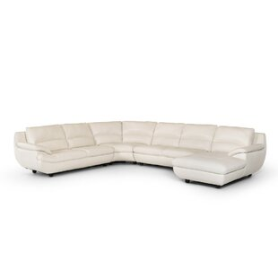 Coalpit Heath Leather Sectional by Orren Ellis