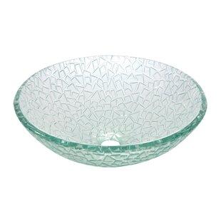 Elements of Design Nordica Glacier Glass Circular Vessel Bathroom Sink