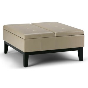 Dover Leather Ottoman by Simpli Home