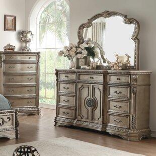 Neagle 9 Drawer Dresser with Mirror by Astoria Grand