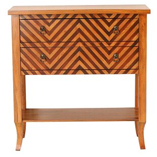 Heirloom Woodtone Chevron 2 Drawer Accent Chest by Heather Ann Creations