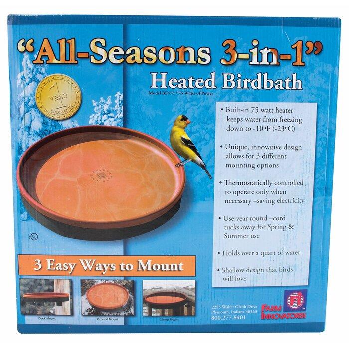 Farm Innovators Heated Bird Bath Scalloped