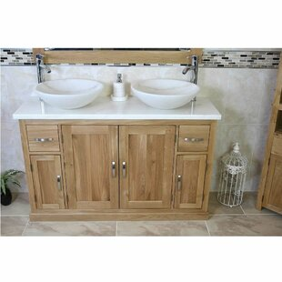 Delao Solid Oak 1230mm Free-Standing Vanity Unit By Belfry Bathroom