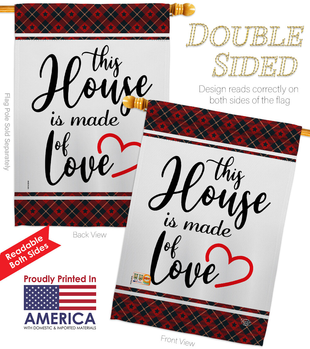 Ornament Collection Made Of Love Impressions Decorative 2 Sided Polyester 40 X 28 In House Flag Wayfair