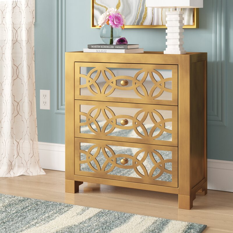 Elkton 3 Drawer Accent Chest by House of Hampton®