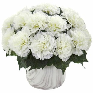 Artificial Carnation Centerpiece in Vase