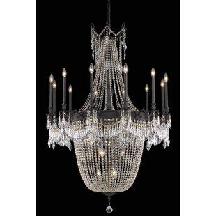 Astoria Grand Ursula 22-Light Chain Empire Chandelier