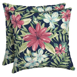Kittle Tropical Outdoor Throw Pillow (Set of 2)
