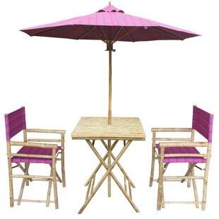 4 Piece Dining Set with Umbrella by ZEW Inc
