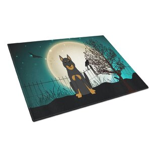 Scary Halloween Glass Beauce Shepherd Dog Cutting Board By Caroline's Treasures