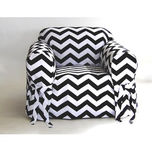 Chevron Box Cushion Armchair Slipcover