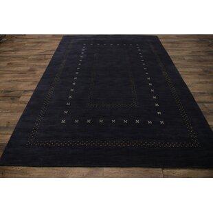 Find for One-of-a-Kind Seidman Oriental Hand-Woven 9'7'' x 6'7'' Wool Black Area Rug ByBloomsbury Market