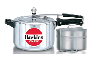 Classic New Improved Aluminum Pressure Cooker by Hawkins Fresh