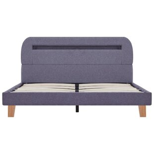 Ostler European Double (140 X 200cm) Upholstered Bed Frame By Mercury Row
