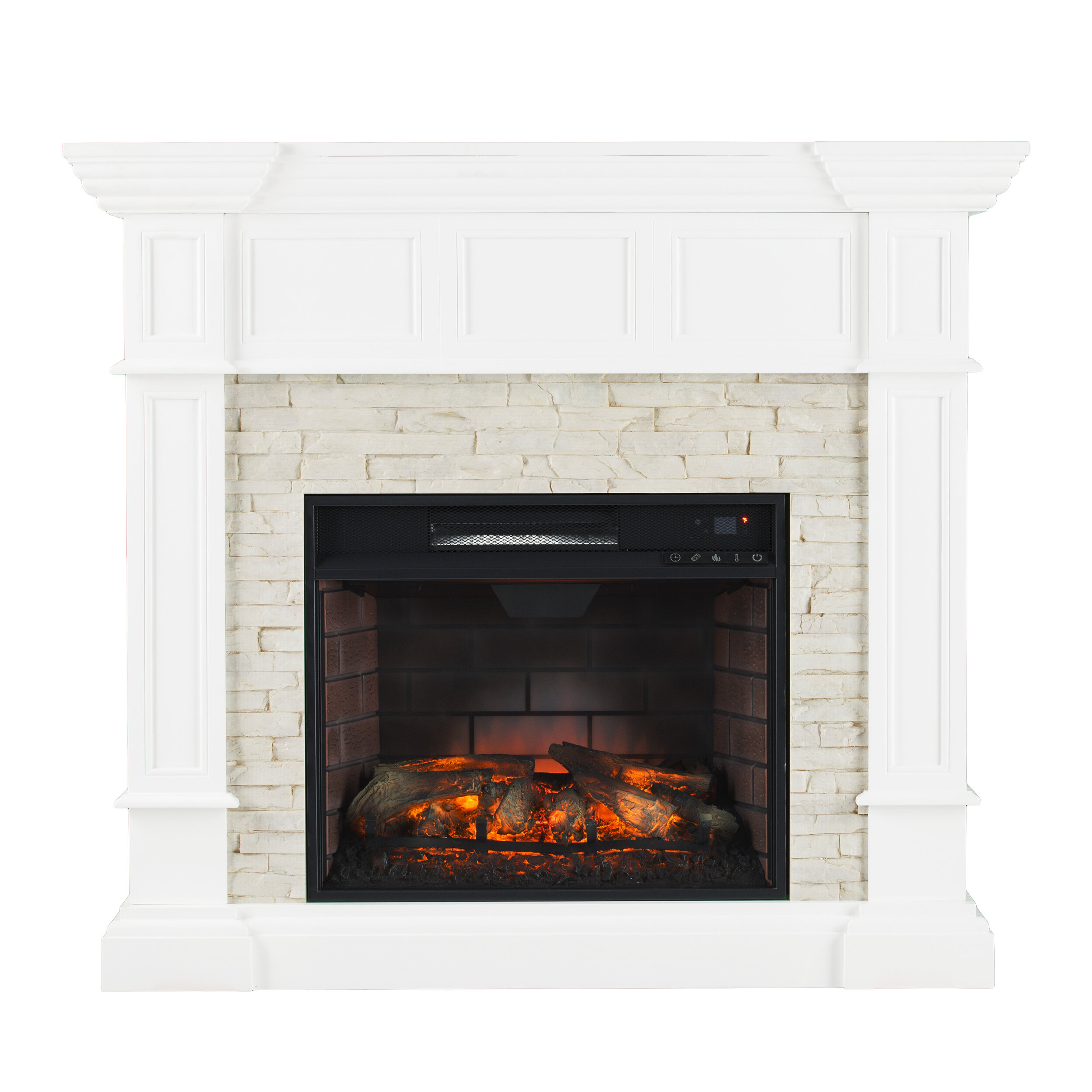 mocha free electric media lincolnville havenside shipping fireplace tv overstock home garden product grey today stand center