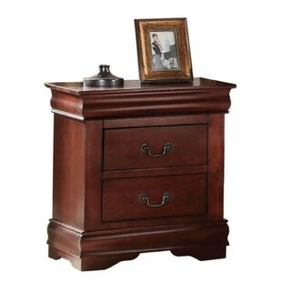 Kyles Wooden 2 Drawer Nightstand by Charlton Home