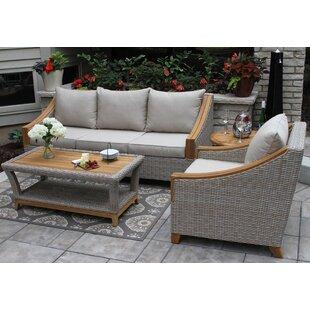 Birch Lane™ Asta Teak Seating Group with Sunbrella Cushions
