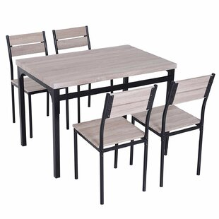 Sirois 5 Piece Dining Set by Winston Porter
