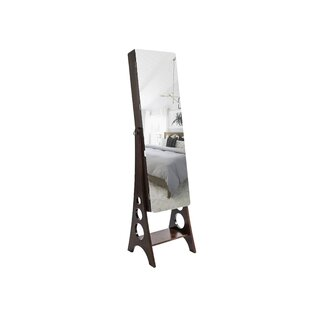 Ines Free Standing Jewelry Armorie with Mirror