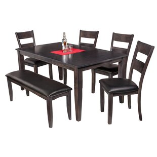 Haan Modern 6 Piece Solid Wood Dining Set..