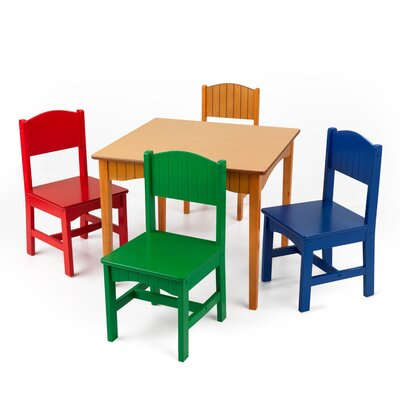 Miraculous Kidkraft Nantucket Kids 5 Piece Writing Table Chair Set Short Links Chair Design For Home Short Linksinfo