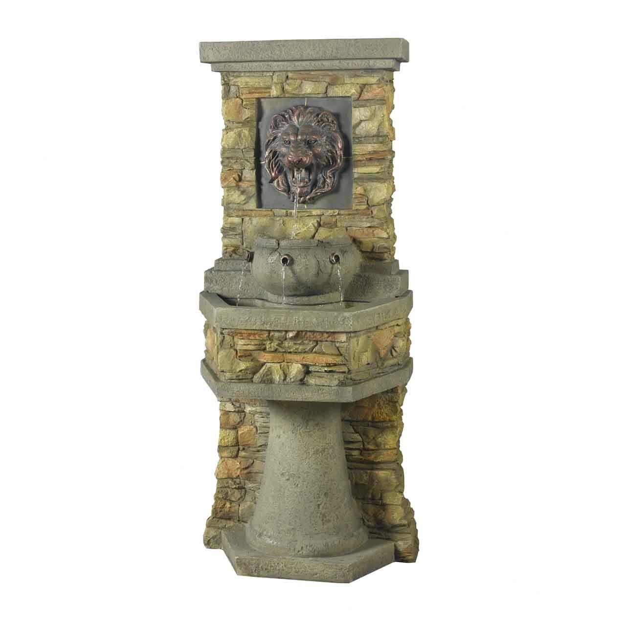 Jeco Inc. Resin/Fiberglass Lion Head Outdoor/Indoor Water Fountain ...