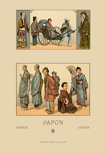 Buyenlarge Japanese Civil Costumes And Transportation By Auguste Racinet Graphic Art Wayfair