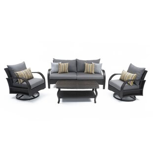 Cerralvo 4 Piece Sunbrella Sofa Seating Group with Cushions by Sol 72 Outdoor