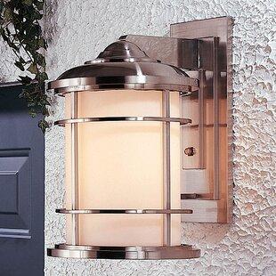 Read Reviews Georgia 1-Light Outdoor Wall Lantern By Latitude Run