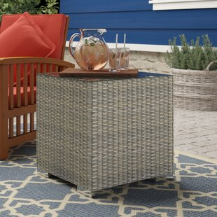 Jenecke Wicker Side Table