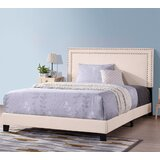 Mgrdich Solid Wood and Upholstered Low Profile Standard Bed by Winston Porter