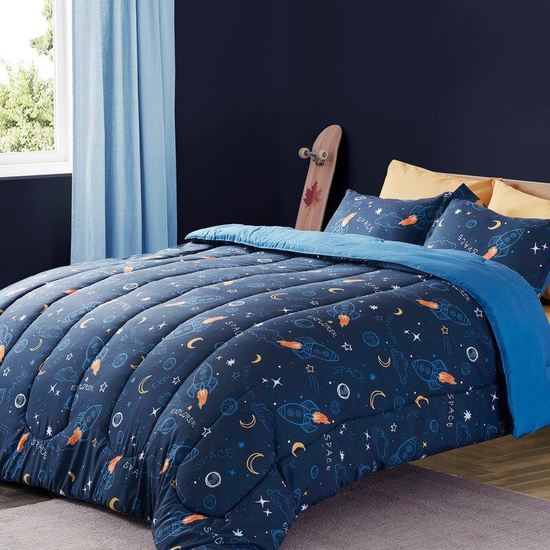 Isabelle Max Bridport Space Rocket Comforter Set Reviews Wayfair