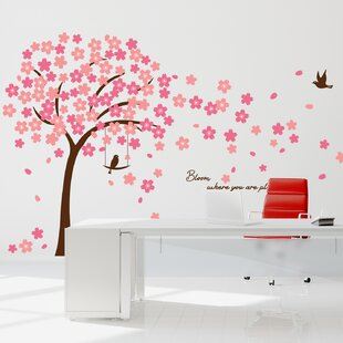 Sizing Information in Description Dark Pink Cherry Blossoms Vinyl Decal Set 41 Blossoms