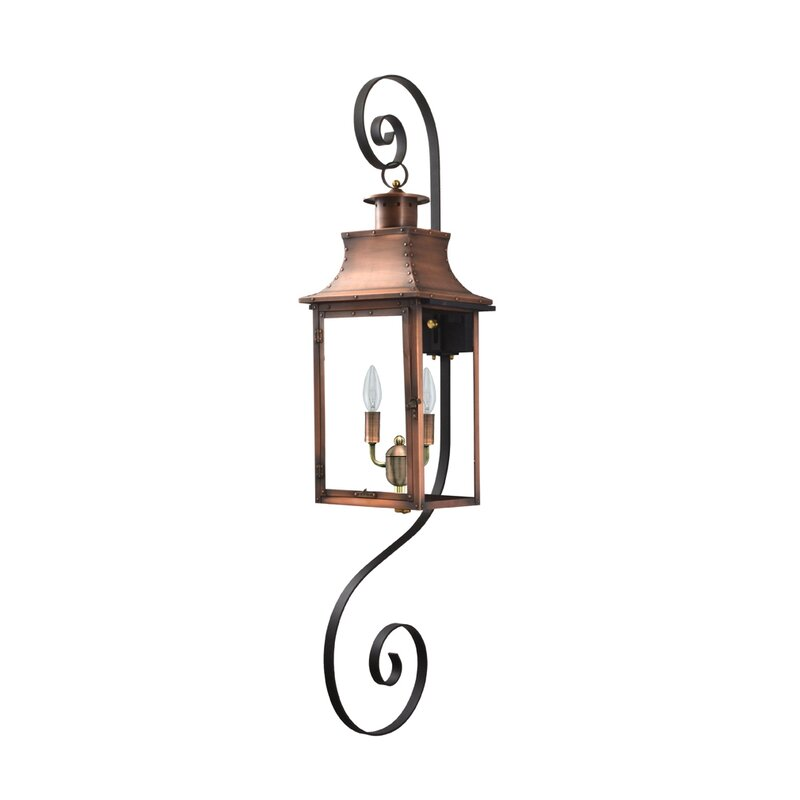 Longshore Tides Gravette Aged Copper 2 Bulb 21 H Outdoor Wall Lantern Wayfair