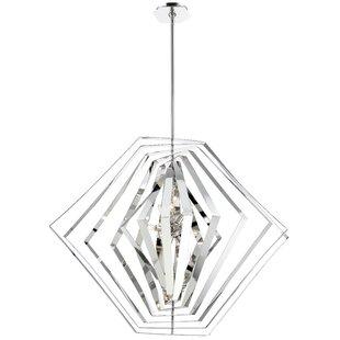 Orren Ellis Lenna 10-Light Geometric Chandelier
