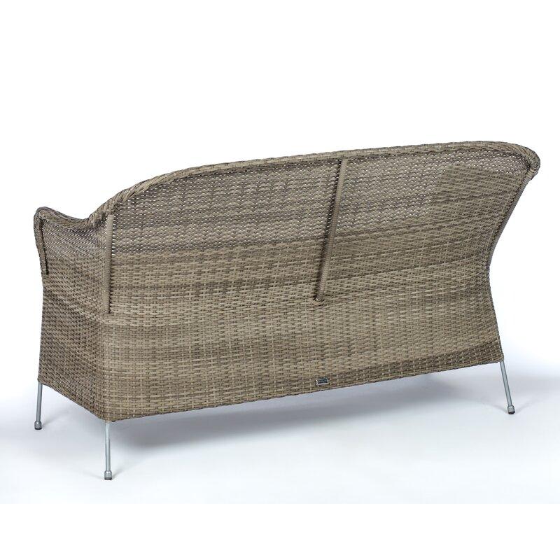 Addison Wicker Garden Bench With Cushion