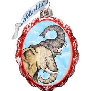 Elephant Shaped Ornament by The Holiday Aisle