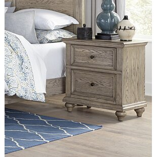 Gracie Oaks Reeder 2 Drawer Nightstand