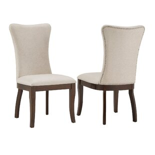 Delaplaine Wingback Upholstered Dining Chair (Set of 2) Gracie Oaks