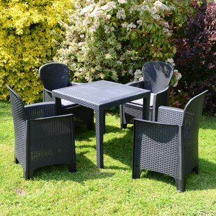 Isadora 4 Seater Dining Set With Cushions By Sol 72 Outdoor
