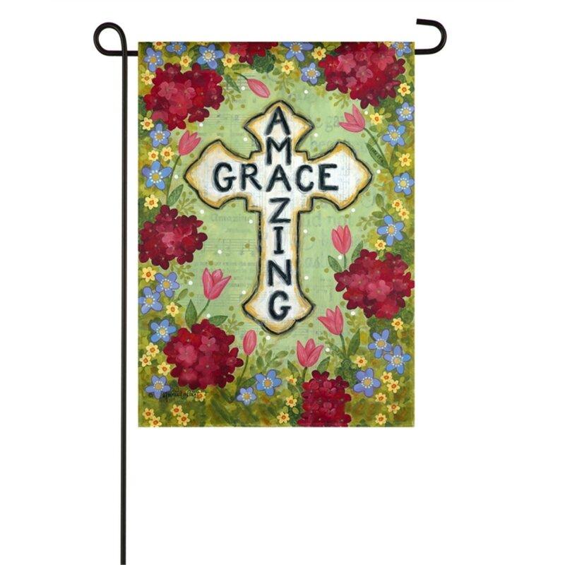 Evergreen Enterprises Inc Amazing Grace Cross 2 Sided Polyester 10 X 6 Garden Flag Wayfair
