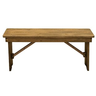 Ethan Wood Bench by Millwood Pines
